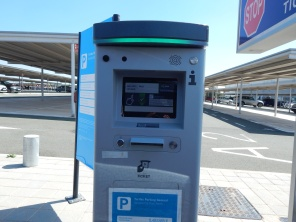 Take a ticket on entry to the car park