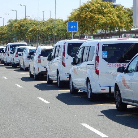 Registered taxis at the airport