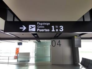 Departure gates Murcia Airport