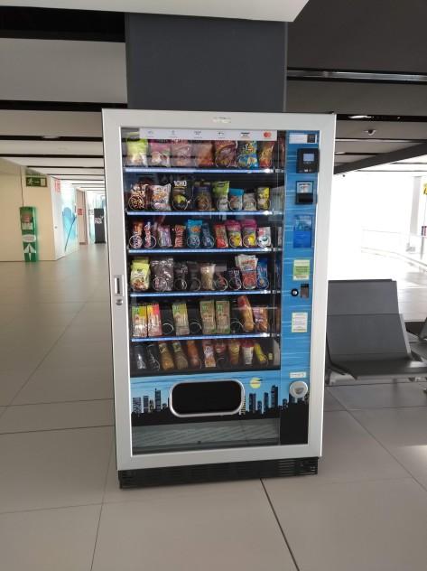 Vending machine in departures