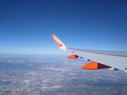 Easyjet in flight